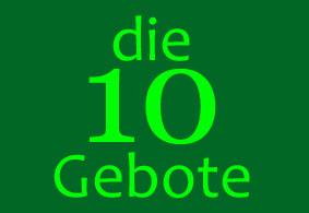 LEITBILD oder die 10 GEBOTE des NUGK